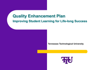 TTU QEP Overview - Tennessee Technological University