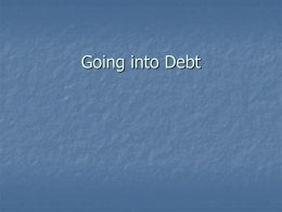 Going into Debt