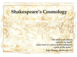Shakespeare`s Cosmology