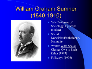 William Graham Sumner Presentation