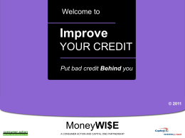 Rebuilding Good Credit - PowerPoint Training