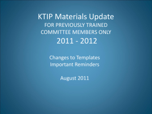 ktip training homework