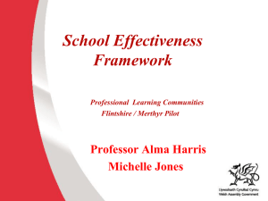 School Effectiveness Framework The next phase
