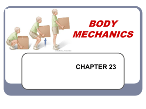 BODY MECHANICS - gss health care
