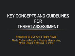 Threat Assessment Training - March 2011