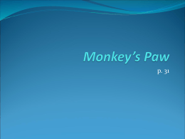 Monkey`s Paw - Breathitt County Schools