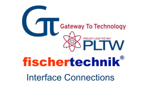 fischertechnik Interface Connections