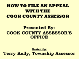How To Appeal Your Assessment With The Cook County Assessor