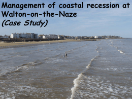 Management of coastal recession at Walton-on