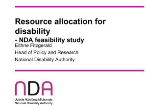 Resource allocation for Disability