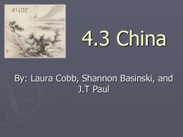 4.3 China - Blue Valley School District