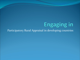 PRA participatory rural appraisal methods