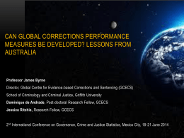 Can global corrections performance measures be developed