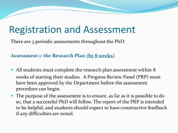 Assessment 1: the Research Plan (by 8 weeks)
