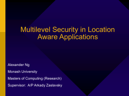 Multilevel Security in Location Aware Applications