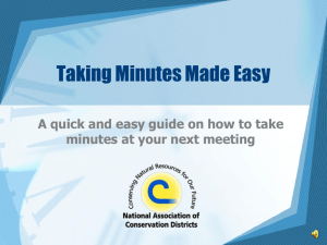 Minutes Made Easy