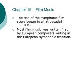 Chapter 19 - Film Music powerpoint