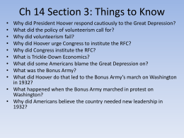 Ch 14 Section 3: Things to Know