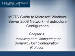 Installing and Configuring the Dynamic Host Configuration Protocol
