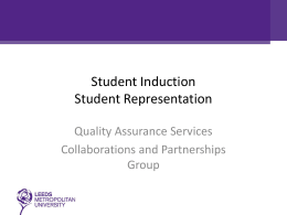 Students Induction Entitlements Engagement Representation
