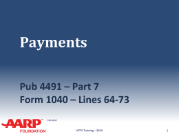 33_Payments - Aarp-tax-aide