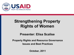 Module 3: Strengthening Property Rights of Women Presentation