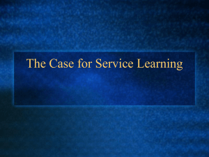 The Case for Service Learning