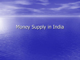 Money Supply in India