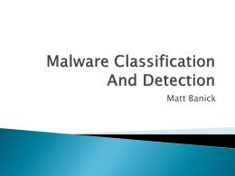 Malware Classification And Detection