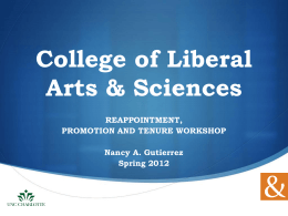 Personal Statement Workshop - College of Liberal Arts & Sciences