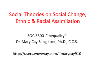 Social Theories on Assimilation