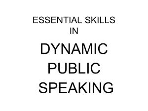Essential Skills in Dynamic Public Speaking - AIM-IRS