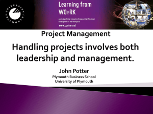 handling projects involves both leadership and management.