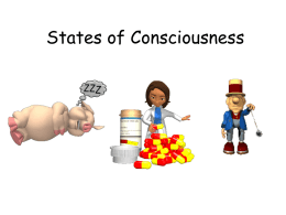 States of Consciousness PowerPoint