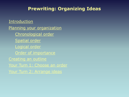 Organizing Ideas - English Grammar 101