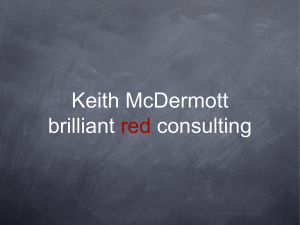 Keith McDermott brilliant red consulting