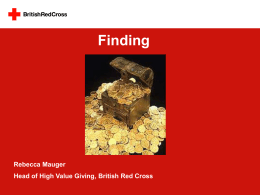 Rebecca Mauger, British Red Cross - Finding