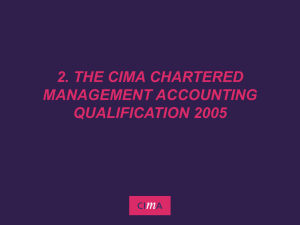 New Generation CIMA Qualifications