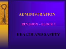 Admin Revision 2 - Health & Safety