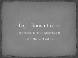 Light Romanticism - Sprague High School