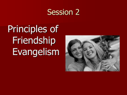 Principles of Friendship Evangelism