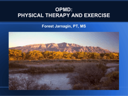 OPMD: Physical Therapy and Exercise