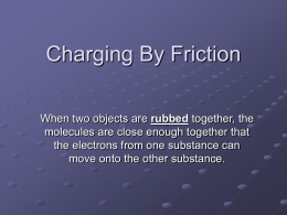 Charging By Friction