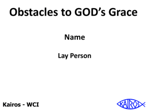Obstacles to Grace