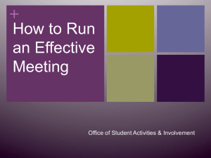 Run Effective Meetings