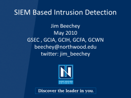 SIEM Based Intrusion Detection