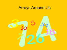 Arrays Around Us