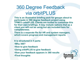 360 degree feedback sample briefing