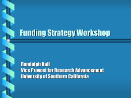 Funding Strategy Workshop - Research