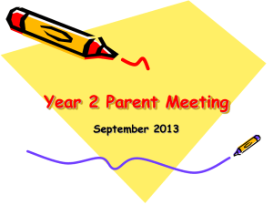 Year 2 Parent Meeting - Stillness Infants School